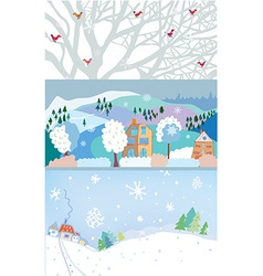 Winter banner for christmas and new year time vector