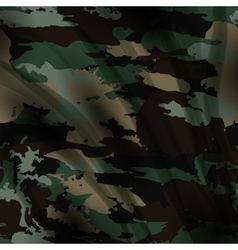 Drapery camouflage fabric textile background vector