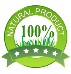 Label for natural products vector