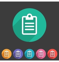 Clipboard checklist rules icon flat web sign vector