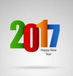 New Year card with colored numbers design template vector image