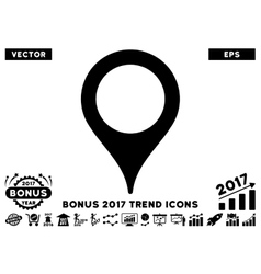 Map pointer flat icon with 2017 bonus trend vector
