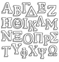 Greek alphabet vector
