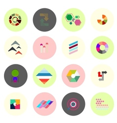 Set of business infographics icons shapes vector