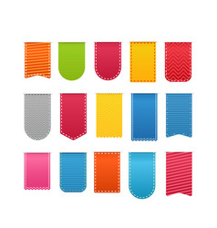 Different color shopping tags clipart isolated on vector