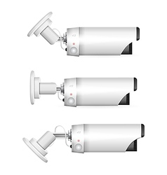White surveillance camera vector