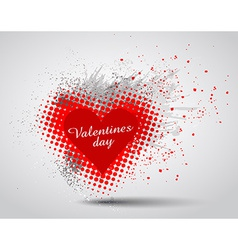 Grunge valentines day hart background vector