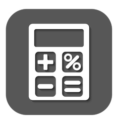 The calculator icon accounting symbol flat vector