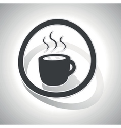 Hot drink sign sticker curved vector