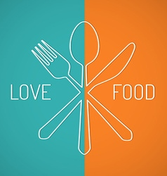 Love food vector