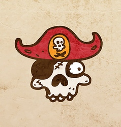 Pirate skull cartoon vector