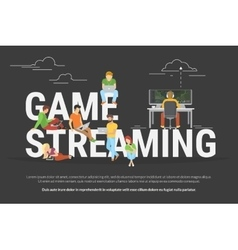 Game streaming concept vector