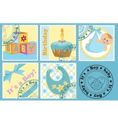 Babys postage marks and stamps vector image
