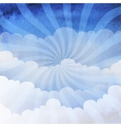 Background cloudy sky vector