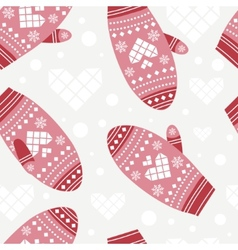 Background with cute mittens vector image vector image