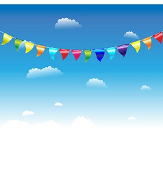 Birthday flags vector