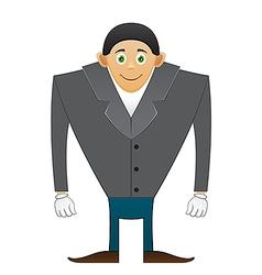 broad shoulders Office man vector image vector image