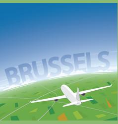 Brussels flight destination vector