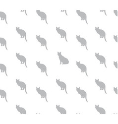 Cat seamless pattern pets background kitten vector