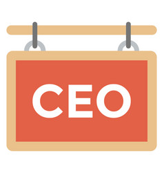 Ceo nameplate vector
