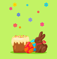 easter festive concept with traditional meals vector image vector image