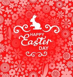 Easter rabbit pink vector