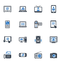 Electronics Icons - Blue Series vector image vector image