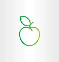green apple icon design element vector image