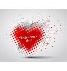 Grunge valentines day hart background vector