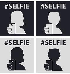 Guygirl taking self photo icon - vector