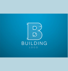 Logo template letter b in the style of a vector