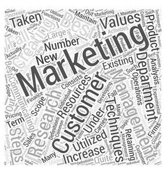 Marketing Management Word Cloud Concept vector image