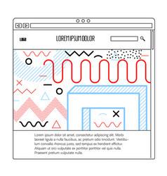 mempis website template vector image
