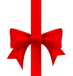 red ribbon with a bow vector image
