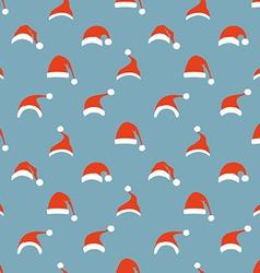 Seamless pattern of Santa hats vector image vector image
