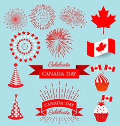 Set design elements for celebrate the national day vector image