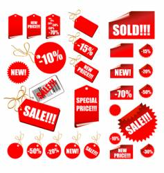 shopping retail sales tags vector image