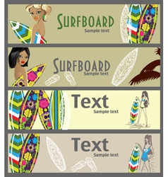 surfer banners vector image vector image