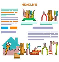 Template design brochure building tools vector