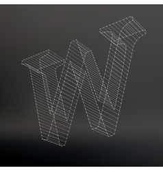 The letter Polygonal letter Low poly model The vector image