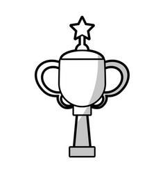 Winner cup star trophy - shadow vector
