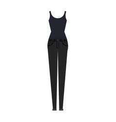 women casual clothes icon vector image vector image