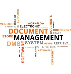 Word cloud document management vector