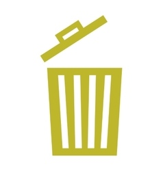 Waste garbage recycle icon vector