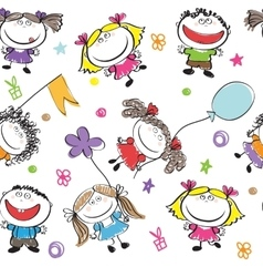 holidays funny kids vector image