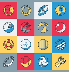 Balls icons set vector image