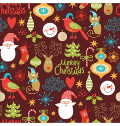 Seamless pattern with new year elements vector