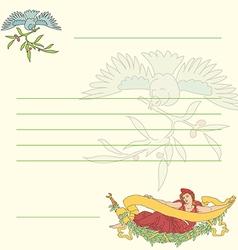 Postcard in retro style in vector