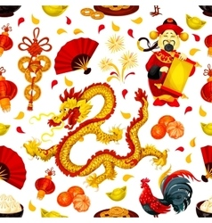 Chinese New Year seamless pattern background vector image