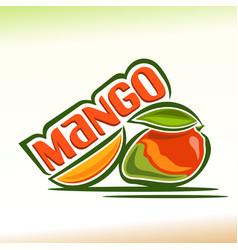 Mango still life vector